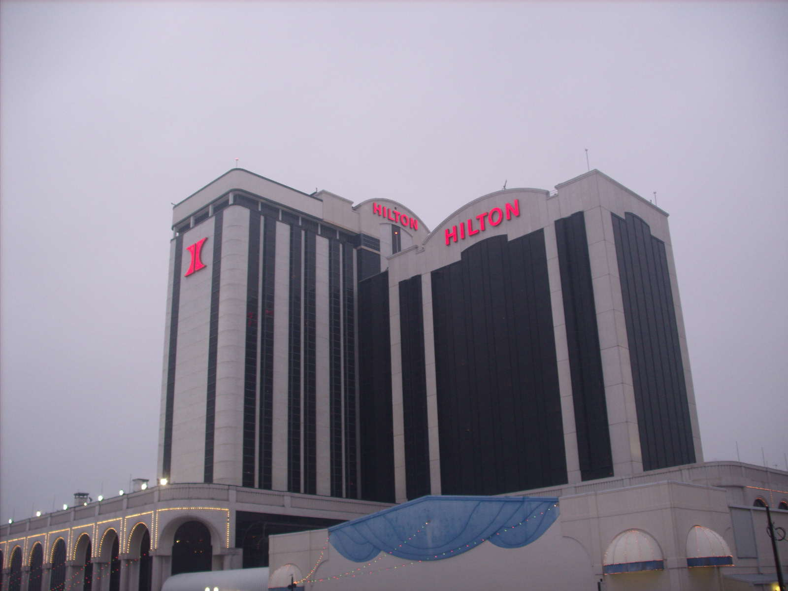 Photo of the Hilton Hotel and Casino, Atlantic City, New Jersey. The Hilton is now named The Atlantic Club Casino Hotel. Photo credit: Marion Weiscarger Roughsedge. Copyright 2009 - 2012. All rights reserved.